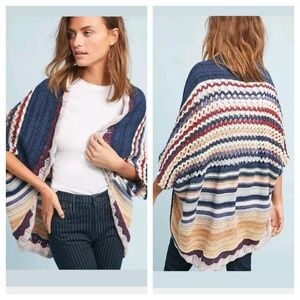 Anthropologie Moth Kearny Crocheted knit Cardigan